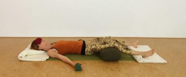 yoga bolster savasana